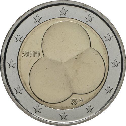 Rückseite:Finnland : 2 Euro 100 Jahre Finnische Verfassung von 1919  2019 bfr