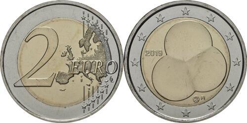 Lieferumfang:Finnland : 2 Euro 100 Jahre Finnische Verfassung von 1919  2019 bfr