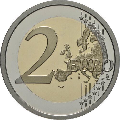 Vorderseite:Slowenien : 2 Euro 100. Jahrestag der Gründung der Universität Ljubljana  2019 PP
