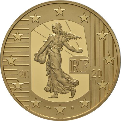 Rückseite:Frankreich : 100 Euro 60 Jahre neuer Franc  2020 PP