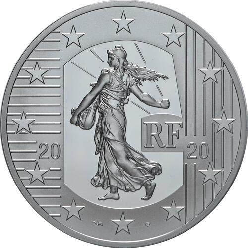 Rückseite:Frankreich : 10 Euro 60 Jahre neuer Franc  2020 PP