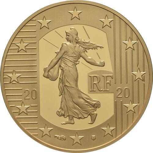 Rückseite:Frankreich : 50 Euro 60 Jahre neuer Franc  2020 PP
