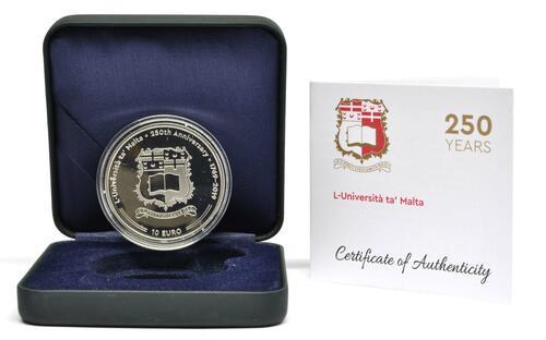Lieferumfang:Malta : 10 Euro 250 Jahre Universität Malta  2019 PP