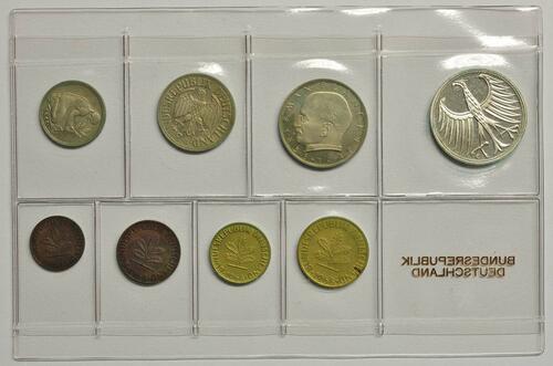 Rückseite:Deutschland : 8,68 Mark Original verschweißt mit 2 Pfennig -Eisen- -sehr selten !- 1968 PP