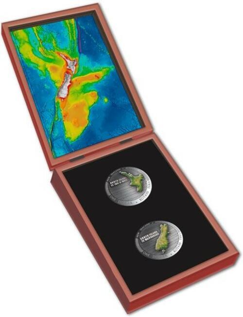 Lieferumfang:Neuseeland : 2x1 Dollar Te Riu-a-Maui - Set 2x 1 oz  2020 PP