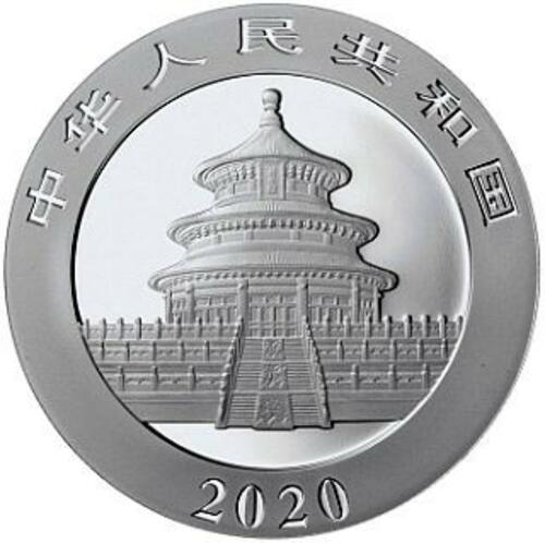 Vorderseite:China : 2x10 Yuan Silberpanda Farbset Night & Day #2  2020 Stgl.