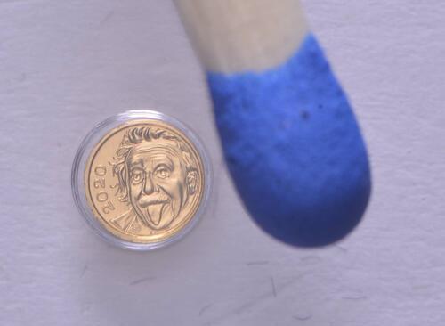 Vorderseite:Schweiz : 1/4 Franken Einstein - kleinste Goldmünze der Welt  2020 PP