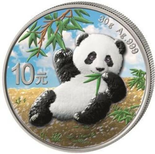 Lieferumfang:China : 10 Yuan Silberpanda farbig - Variante 2  2020 Stgl.