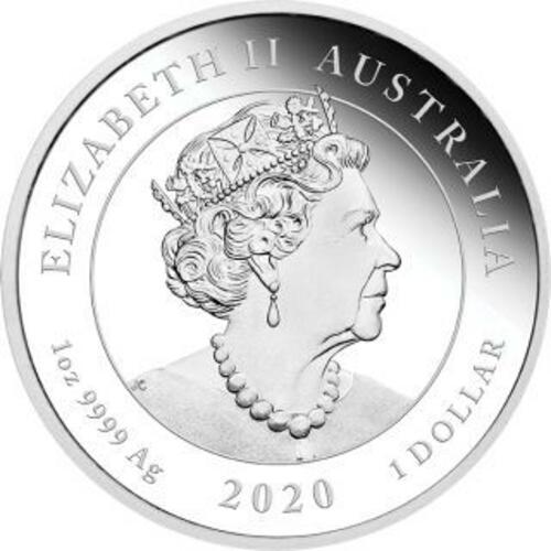 Rückseite:Australien : 1 Dollar Eine Liebe - in Geschenkverpackung 1 oz  2020 PP