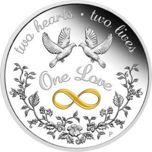 Vorderseite:Australien : 1 Dollar Eine Liebe - in Geschenkverpackung 1 oz  2020 PP