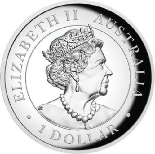 Rückseite:Australien : 1 Dollar Keilschwanzadler - Highrelief 1 oz  2020 PP