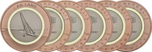 Lieferumfang:Deutschland : 10 Euro An Land Komplettsatz 5 Münzen ADFGJ  2020 bfr