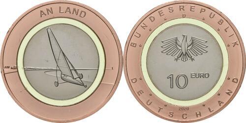 Lieferumfang:Deutschland : 10 Euro An Land Buchstabe unserer Wahl  2020 bfr