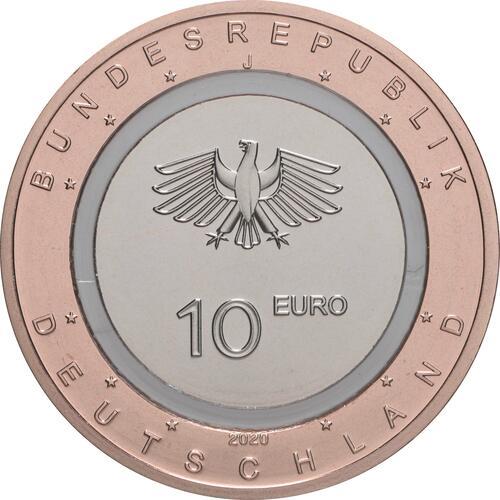 Rückseite:Deutschland : 10 Euro An Land Buchstabe unserer Wahl  2020 PP