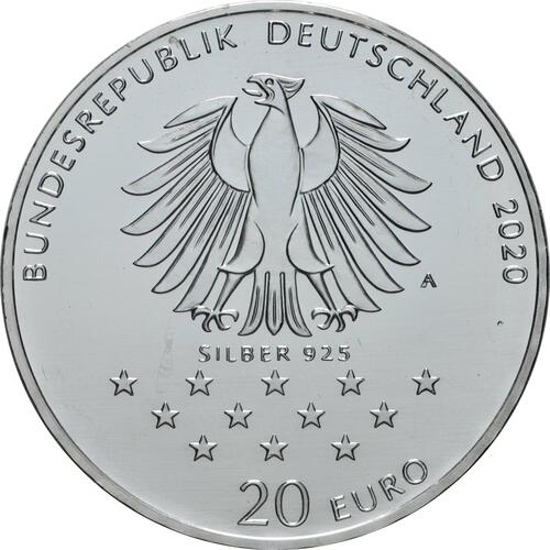 Rückseite:Deutschland : 20 Euro 300. Geburtstag Freiherr von Münchhausen  2020 bfr