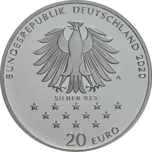Rückseite:Deutschland : 20 Euro 300. Geburtstag Freiherr von Münchhausen  2020 PP