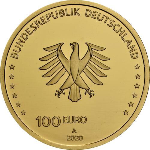 Rückseite:Deutschland : 100 Euro Einigkeit  2020 Stgl.