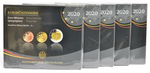 Lieferumfang:Deutschland : 29,4 Euro KMS Deutschland mit zusätzlicher Gedenkmünze komplett A-J   2020 PP