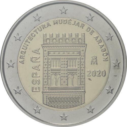Rückseite:Spanien : 2 Euro Architektur der Mudéjaren in Aragón  2020 PP