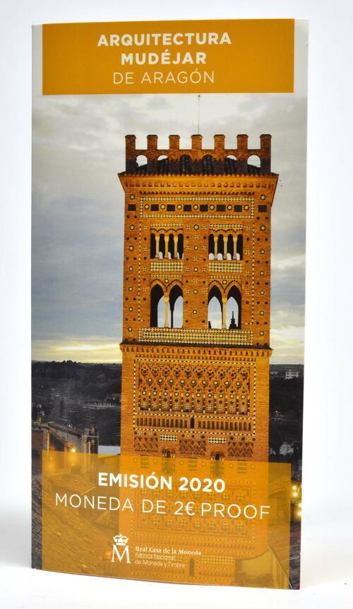 Lieferumfang:Spanien : 2 Euro Architektur der Mudéjaren in Aragón  2020 PP