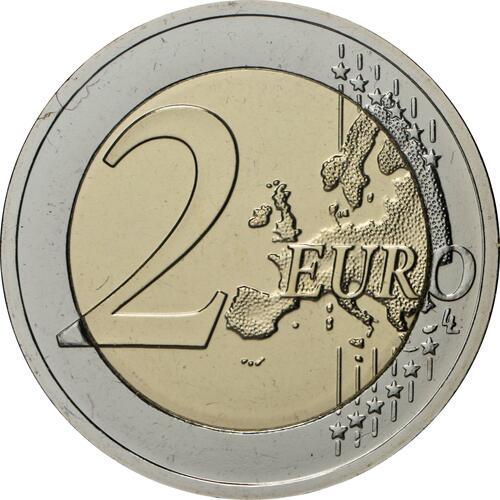 Vorderseite:Lettland : 2 Euro Keramik Lettgallens  2020 Stgl.