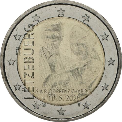 Rückseite:Luxemburg : 2 Euro Prinz Charles / Hologramm  2020 bfr