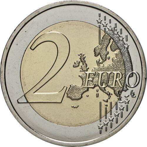 Vorderseite:Malta : 2 Euro Tempel von Skorba  2020 bfr