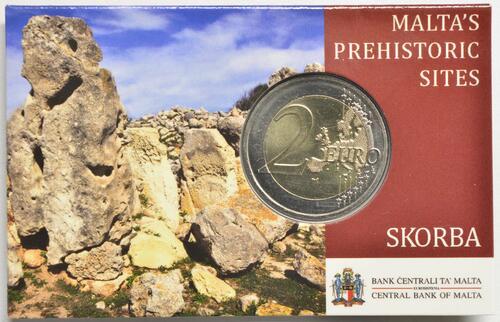 Lieferumfang:Malta : 2 Euro Tempel von Skorba  2020 Stgl.