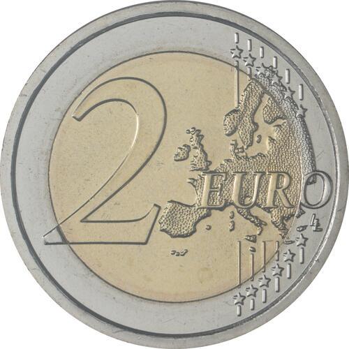 Vorderseite:San Marino : 2 Euro 500. Todestag von Raffael  2020 Stgl.