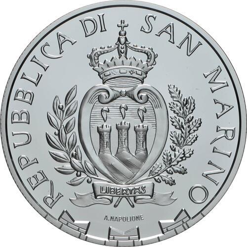 Rückseite:San Marino : 5 Euro Leichtathletik Spiele der kleinen Europastaaten  2020 PP