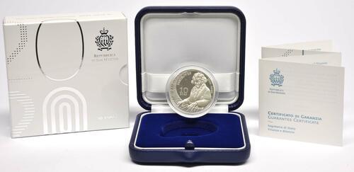 Lieferumfang:San Marino : 10 Euro 250. Jahrestag der Geburt von Ludwig van Beethoven  2020 PP