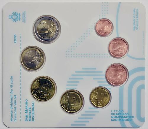 Rückseite:San Marino : 3,88 Euro KMS San Marino  2020 Stgl.