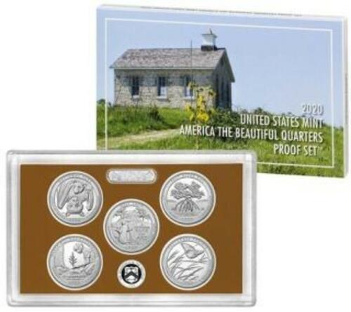 Vorderseite:USA : 5x25 Ct 1/4-Dollar-Satz  2020 PP