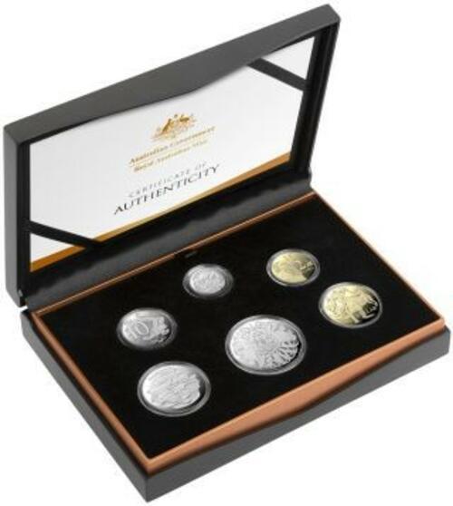 Lieferumfang:Australien : 3,85 Dollar Kursmünzensatz 6. Portrait Queen Elizabeth  2020 PP