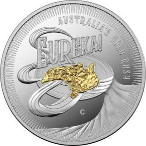 Vorderseite:Australien : 1 Dollar Eureka - Australischer Goldrausch  2020 PP