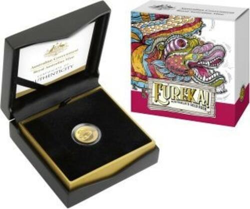 Lieferumfang:Australien : 10 Dollar Eureka - Australischer Goldrausch  1/10 oz  2020 PP