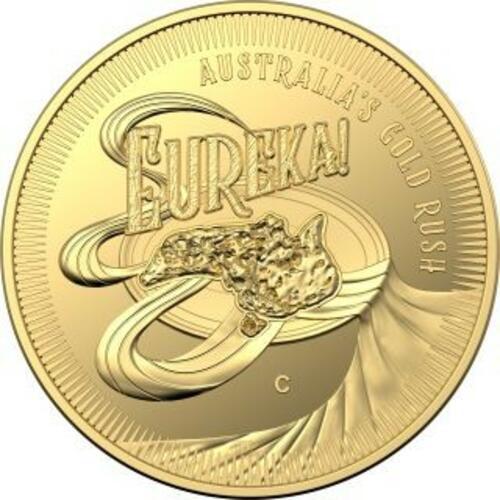 Vorderseite:Australien : 10 Dollar Eureka - Australischer Goldrausch  1/10 oz  2020 PP