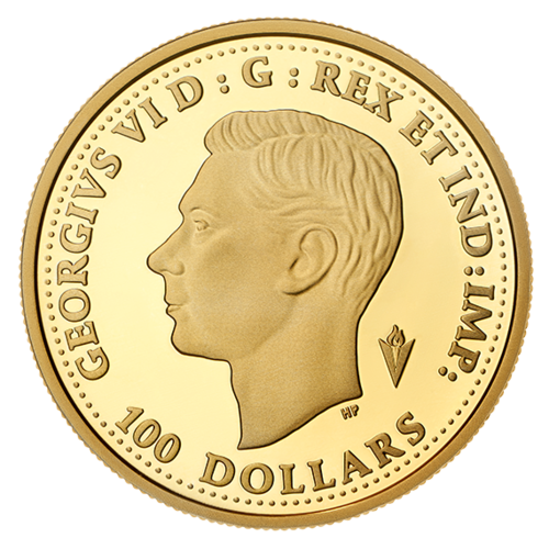 Rückseite:Kanada : 100 Dollar 75 Jahre Ende WW2 – VE Day  2020 PP