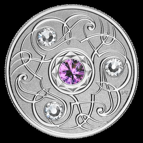 Lieferumfang:Kanada : 5 Dollar Geburtsstein Februar mit Swarowskikristall  2020 PP