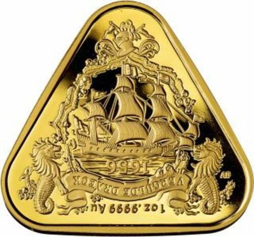 Lieferumfang:Australien : 100 Dollar Segelschiff Gilt Dragon - Dreiecksmünze 1 oz  2020 Stgl.
