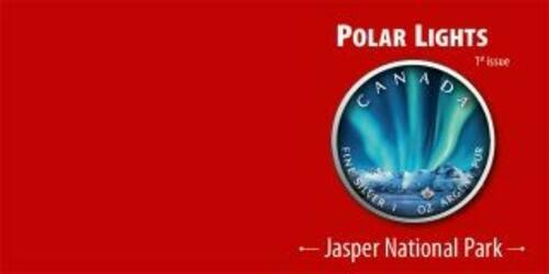 Rückseite:Kanada : 5 Dollar Maple Leaf - Nordlichter Jasper Nat. Park #1  2020 Stgl.