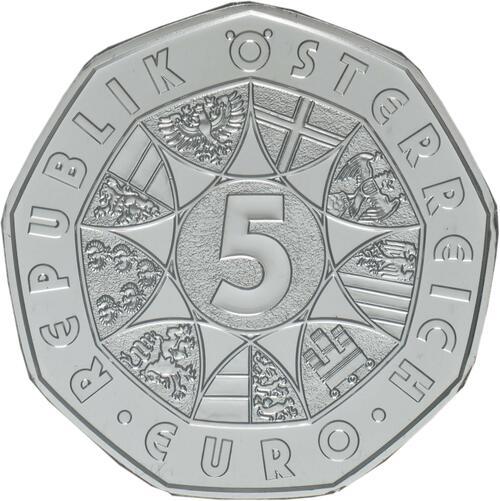 Rückseite:Österreich : 5 Euro Freunde fürs Leben  2020 Stgl.