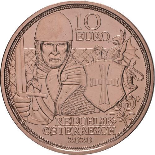 Rückseite:Österreich : 10 Euro Tapferkeit  2020 bfr