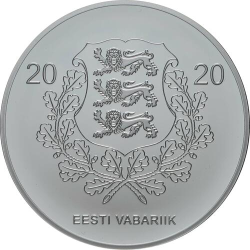 Rückseite:Estland : 15 Euro 150. Geburtstag Juri Jaakson (Bankier + Politiker)  2020 PP