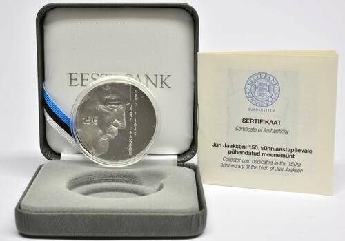Lieferumfang:Estland : 15 Euro 150. Geburtstag Juri Jaakson (Bankier + Politiker)  2020 PP