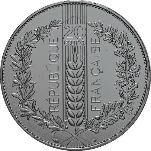 Rückseite:Frankreich : 20 Euro Eiche  2020 Stgl.