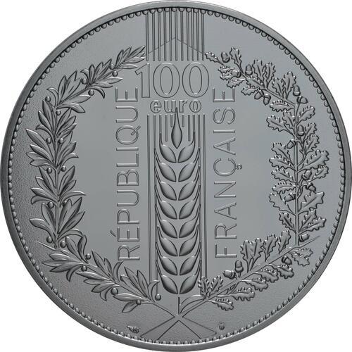 Rückseite:Frankreich : 100 Euro Eiche  2020 Stgl.