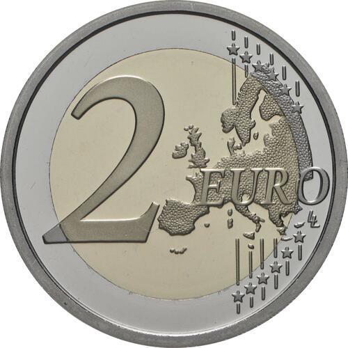 Vorderseite:Italien : 2 Euro 80. Jahrestag der Gründung des Nationalen Feuerwehrkorps   2020 PP