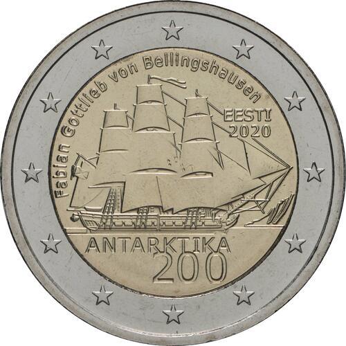 Rückseite:Estland : 2 Euro 200. Jahrestag der Entdeckung der Antarktis  2020 bfr