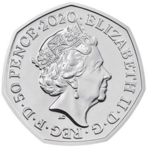 Rückseite:Großbritannien : 50 Pc Brexit Münze - Blister  2020 Stgl.